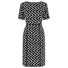 Buy Warehouse Zig Zag Print Dress, Multi Online at johnlewis.com