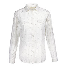 Buy Fat Face Rosie Cross Shirt, White Online at johnlewis.com