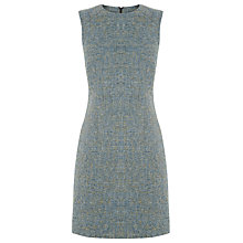 Buy Warehouse Tweed Dress, Yellow Online at johnlewis.com