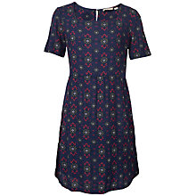 Buy Fat Face Louisa Fold Geo Dress, Navy Online at johnlewis.com