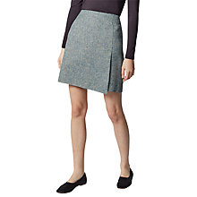 Buy Warehouse Tweed Pelmet Skirt, Yellow Online at johnlewis.com