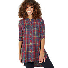 Buy Fat Face Tabitha Check Longline Shirt, Multi Online at johnlewis.com