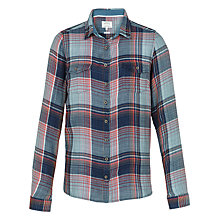 Buy Fat Face Rosie Check Shirt, Vintage Blue Online at johnlewis.com