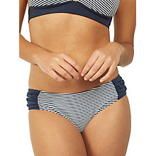 Buy Fat Face Breton Ruched Bikini Bottoms, Navy Online at johnlewis.com
