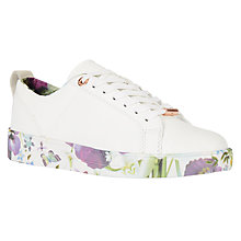 Buy Ted Baker Barrica Lace Up Trainers, White Online at johnlewis.com