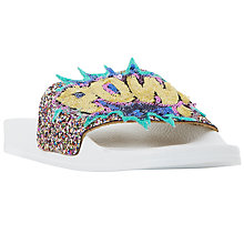 Buy Dune Lila Sequin Slider Sandals, Multi Online at johnlewis.com