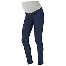 Buy Mamalicious Elle Skinny Maternity Jeans, Denim Blue Online at johnlewis.com
