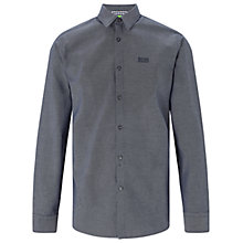 Buy BOSS Green C-Buster Fine Check Regular Fit Shirt, Navy Online at johnlewis.com
