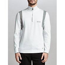 Buy BOSS Green Pro Golf Zelchior Functional Half-Zip Jumper, White Online at johnlewis.com
