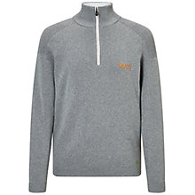 Buy BOSS Green Pro Golf Zayo Water-Repellent Half-Zip Jumper, Light Pastel Grey Online at johnlewis.com