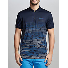 Buy BOSS Green Pro Golf Paule Pro 2 Pattern Polo Shirt, Navy Online at johnlewis.com
