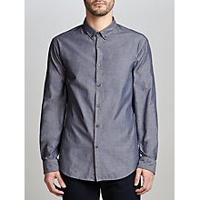 Buy BOSS Green C-Baltero Slim Fit Melange Shirt, Navy Online at johnlewis.com