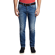 Buy BOSS Orange Orange90 Tapered Fit Jeans, Bright Blue Online at johnlewis.com