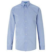 Buy BOSS Green C-Bustai Finely Patterned Shirt, Medium Blue Online at johnlewis.com
