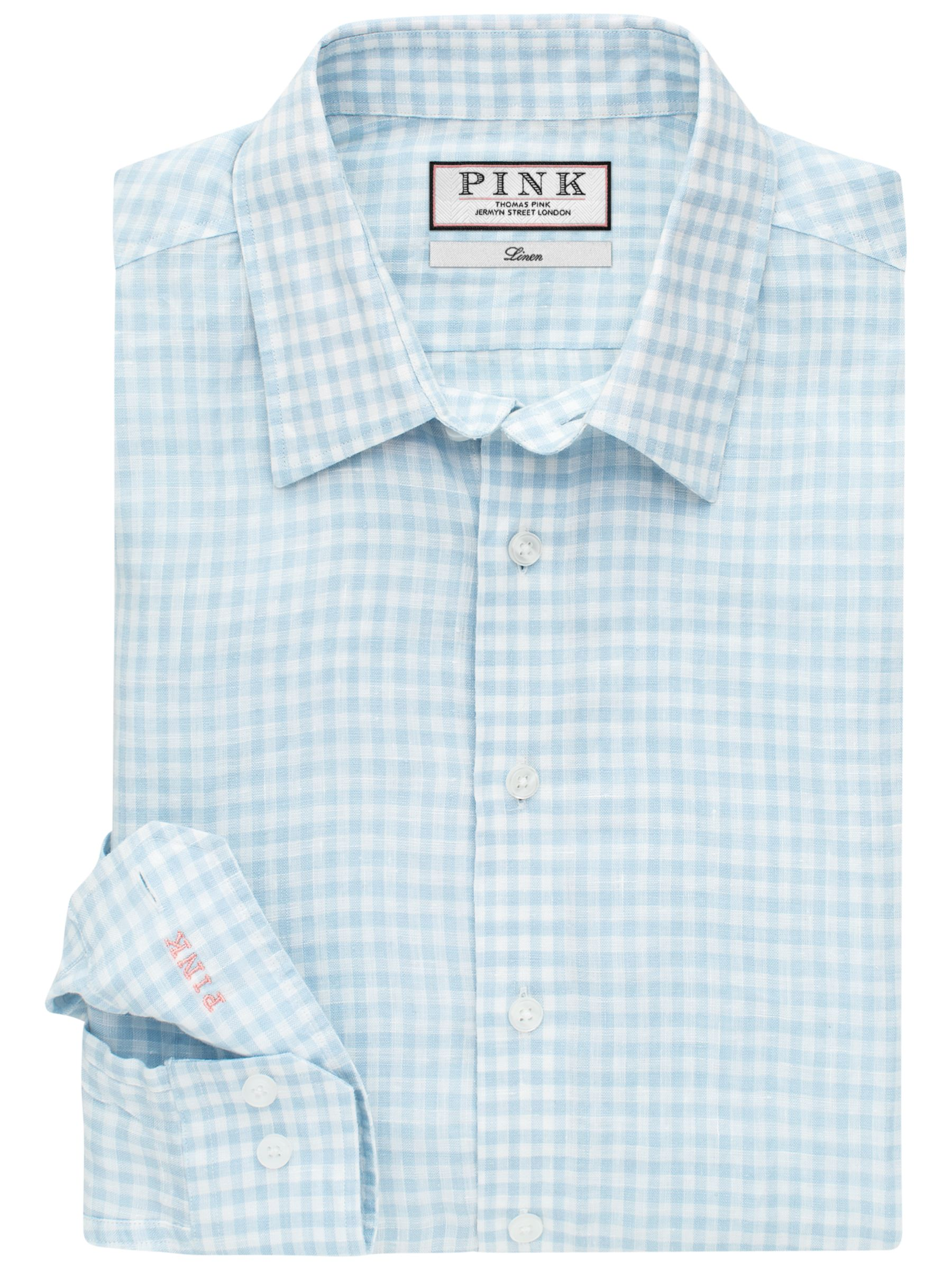 Thomas Pink Thomas Pink Wallace Classic Fit Linen Check Shirt