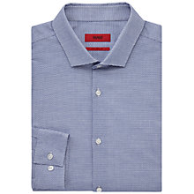 Buy HUGO by Hugo Boss Erondo Pattern Extra Slim Fit Shirt, Medium Blue Online at johnlewis.com