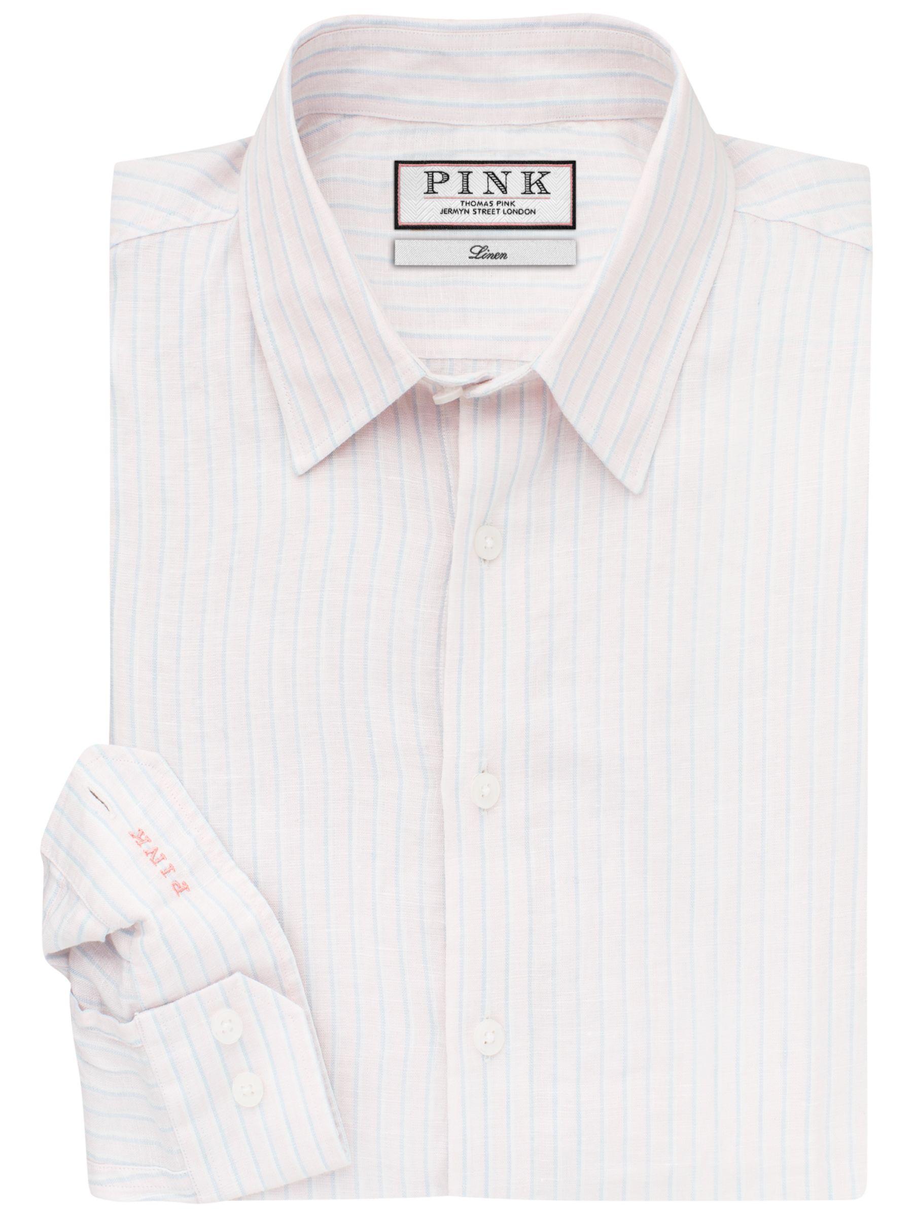Thomas Pink Thomas Pink Tennent Classic Fit Linen Stripe Shirt
