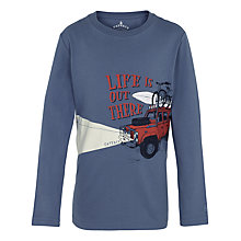 Buy Fat Face Boys' Life Is Out There T-Shirt, Blue Mist Online at johnlewis.com