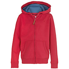 Buy Fat Face Boys' Surf Or Skate Zip Through Hoodie, Lava Red Online at johnlewis.com