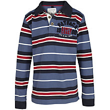 Buy Fat Face Boys' Striped Rugby Top, Blue/Multi Online at johnlewis.com