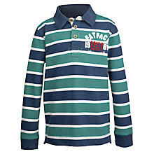 Buy Fat Face Boys' Striped Rugby Top, Green/Multi Online at johnlewis.com