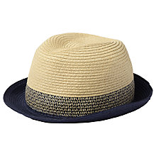 Buy Fat Face Children's Trilby Hat, Cream/Navy Online at johnlewis.com
