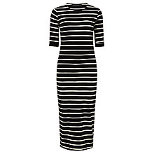 Buy Sugarhill Boutique Octavia Stripe Midi Dress, Black/White Online at johnlewis.com