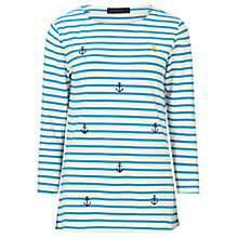 Buy Sugarhill Boutique Isla Anchors Top, Blue/White Online at johnlewis.com