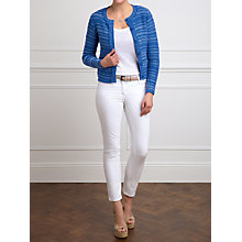 Buy Pure Collection Denim Helen Knitted Cotton Jacket, Navy Online at johnlewis.com