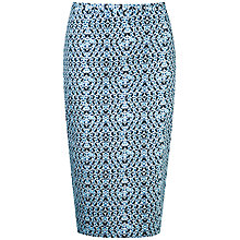 Buy Pure Collection Lindsey Pencil Skirt, Blue Geo Print Online at johnlewis.com