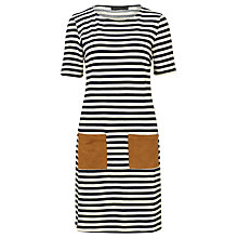 Buy Sugarhill Boutique Cheryl Stripe Tunic Dress, Navy/Cream Online at johnlewis.com