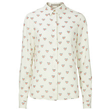 Buy Sugarhill Boutique Blair Dotty Hearts Shirt, Cream Online at johnlewis.com