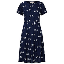 Buy Sugarhill Boutique Justie Graphic Birds Print Dress, Navy Online at johnlewis.com