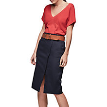 Buy Gerard Darel Jeanne Cotton Wrap Skirt, Navy Online at johnlewis.com