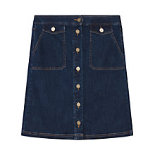Buy Gerard Darel Justine Skirt, Light Indigo Online at johnlewis.com