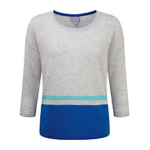 Buy Pure Collection Delilah Relaxed Gassato Jumper, Blue Colour Block Online at johnlewis.com