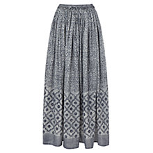 Buy East Tile Print Skirt, Indigo Online at johnlewis.com