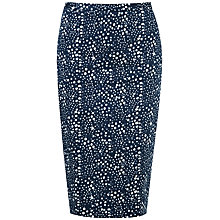 Buy Pure Collection Miya Pencil Skirt, Brushed Spot Print Online at johnlewis.com