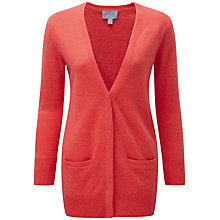 Buy Pure Collection Georgia Cashmere Boyfriend Cardigan, Coral Twist Online at johnlewis.com