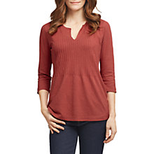 Buy East Pintuck Jersey Top, Brick Online at johnlewis.com