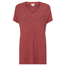 Buy East Oversized Textured Jumper, Brick Online at johnlewis.com