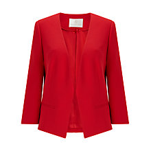 Buy Jacques Vert Edge To Edge Jacket, Bright Red Online at johnlewis.com