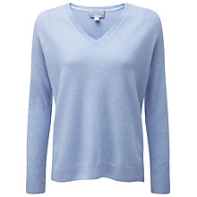 Buy Pure Collection Clare Relaxed Cashmere Jumper, Chambray Twist Online at johnlewis.com