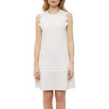 Buy Ted Baker Relioa Flippy Metallic Dress, Baby Pink Online at johnlewis.com