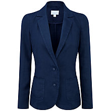 Buy Pure Collection Kirsten Laundered Linen Jacket, French Navy Online at johnlewis.com