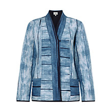 Buy East Silk Shibori Quilted Coat, Indigo Online at johnlewis.com