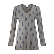 Buy East Booti Print Jumper, Grey Online at johnlewis.com