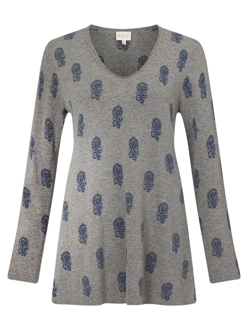 East East Booti Print Jumper, Grey