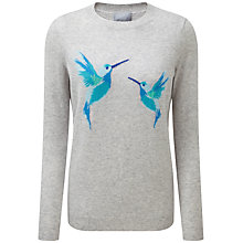 Buy Pure Collection Bridget Cashmere Boyfriend Jumper, Hummingbird Print Online at johnlewis.com