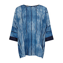 Buy East Shibori Button Top, Indigo Online at johnlewis.com